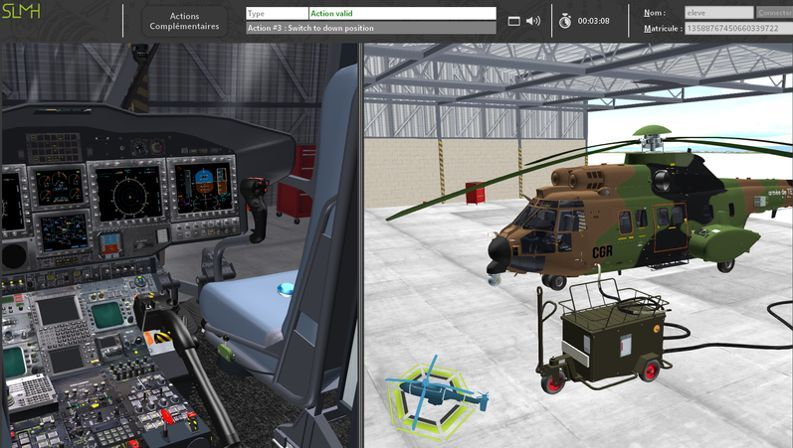 Airbus AS532 Cougar Virtual Maintenance Trainer
